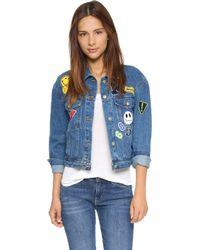 Re:named - Patch Denim Jacket - Blue Wash - Lyst
