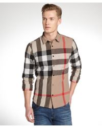 Burberry and Red House Check Cotton Long Sleeve Shirt - Lyst