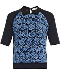 Erdem Carissa Lace-panel Sweater - Lyst