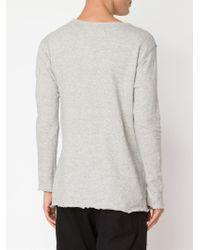 Greg Lauren - Slim Long Sleeve T-shirt - Lyst
