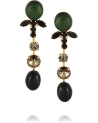 Marni Gold-plated Crystal and Horn Clip Earrings - Lyst