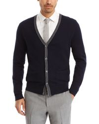 Hugo Boss Tapino | Virgin Wool And Cotton Cardigan - Lyst