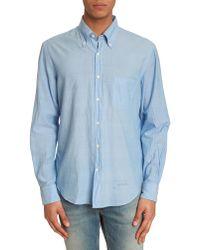 Gant Rugger Selvage Madras Blue Shirt - Lyst
