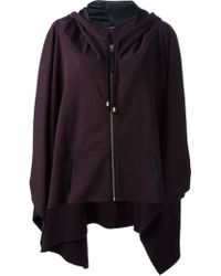 Unconditional - Zipped Hooded Poncho - Lyst