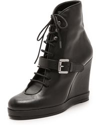 Surface To Air Buckle Ankle Booties  Black - Lyst