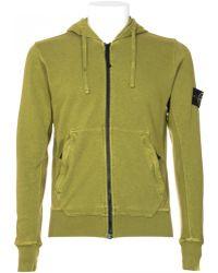 Stone Island Pistachio Cotton Sweatshirt With Hood - Lyst