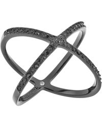Michael Kors Pavé X Ring black - Lyst