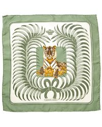 Hermes Pre-owned Le Tigre Silk Petite Scarf - Lyst