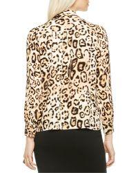 Vince Camuto - Leopard-print Blouse - Lyst