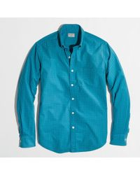 J.Crew Factory Washed Shirt in Multigingham - Lyst