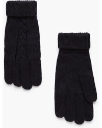Mango - Ribbed Knit Gloves - Lyst