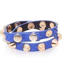 Kurt Geiger Studded Leather Bracelet - Lyst