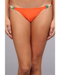 ViX Solid Orange Brazilian Tube Detail Bottom - Lyst