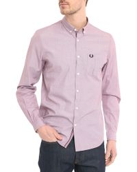 Fred Perry Pink Edging Button Placket Shirt pink - Lyst