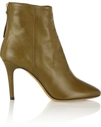 Isabel Marant Aliah Leather Ankle Boots - Lyst