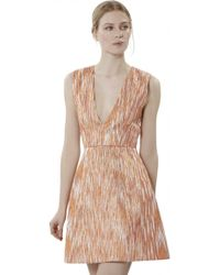 Alice + Olivia Pacey Lantern Dress orange - Lyst