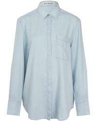 Acne Studios Light Blue Addle Oversize Denim Shirt - Lyst