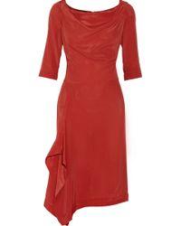 Vivienne Westwood Anglomania Solstice Crepe De Chine Dress - Lyst