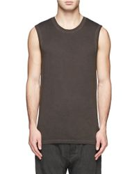 Helmut Lang Sleeveless Muscle Shirt - Lyst