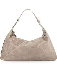Hobo Paulette Glossy Leather Shoulder Bag - Lyst