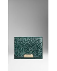 Burberry Signature Grain Leather Card Case - Lyst
