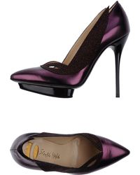 Ernesto Esposito Purple Pump - Lyst