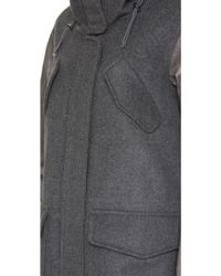 Tess Giberson - Wool Jacket With Leather Sleeves - Lyst