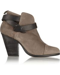 Rag & Bone Harrow Suede Ankle Boots - Lyst