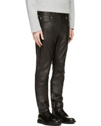 Surface To Air Black Slim Leather Trousers - Lyst
