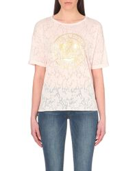 Juicy Couture Serena Crest-Printed T-Shirt - Lyst