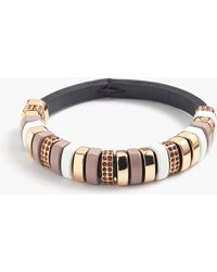 J.Crew Leather Cord Crystal Ring Bracelet - Lyst