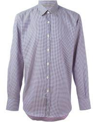Canali Micro Pattern Shirt - Lyst