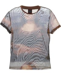 Jean Paul Gaultier Mona Lisa Sheer T-shirt - Lyst