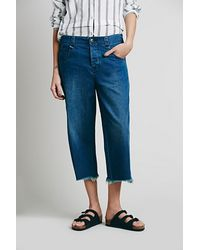 Free People Blue Fisherman Jean - Lyst
