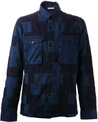 Closed Blue Print Shacket - Lyst