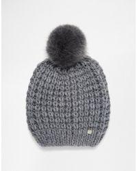 Esprit - Chunky Pom Beanie Hat - Lyst