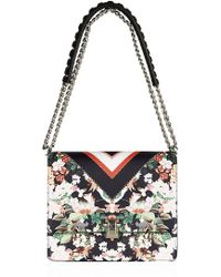 Roberto Cavalli Medium Floral Hera Shoulder Bag - Lyst