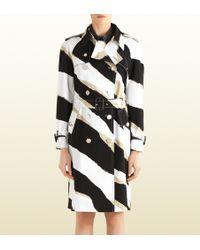 Gucci Zebra Print Trench Coat - Lyst