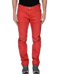Tommy Hilfiger Straight Mid-Rise Jeans red - Lyst