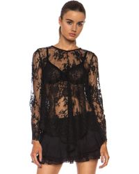 Zimmermann Ringmaster Lace Knit Top - Lyst