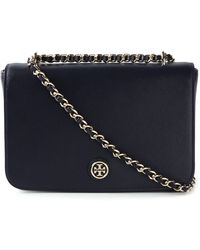 Tory Burch Robinson Leather Cross-Body Bag - Lyst