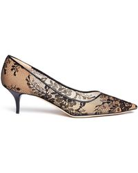 Jimmy Choo | Aza Floral Lace and Mesh Pumps | Lyst