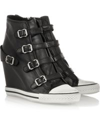 Ash United Leather Wedge Sneakers - Lyst