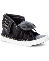 Jimmy Choo Charcoal Spencer High-Top Sneakers - Lyst