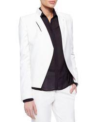 Halston Slim Jacket With Slit Detail - Lyst