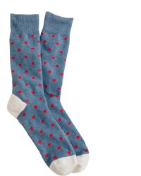 J.Crew Medium-Dot Cotton Socks - Lyst