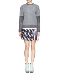 Peter Pilotto - Asymmetric Tweed Flap A-line Print Skirt - Lyst