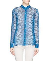 Equipment Audrey Leopard Print Silk Shirt - Lyst