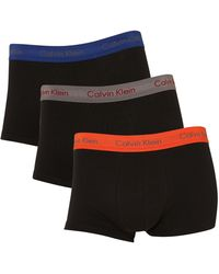 Calvin Klein 3 Pack Block Colour Waistband Underwear Trunk - Lyst