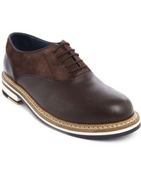 Opening Ceremony Antoine Dual Material Brown Brogue Shoes - Lyst